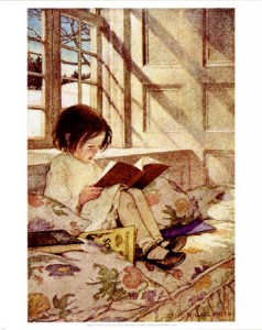 Jessie Willcox-Smith - Books in Winter