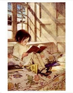 Jessie Willcox-Smith - Books in Winter