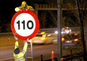 Cambio de señales de tráfico